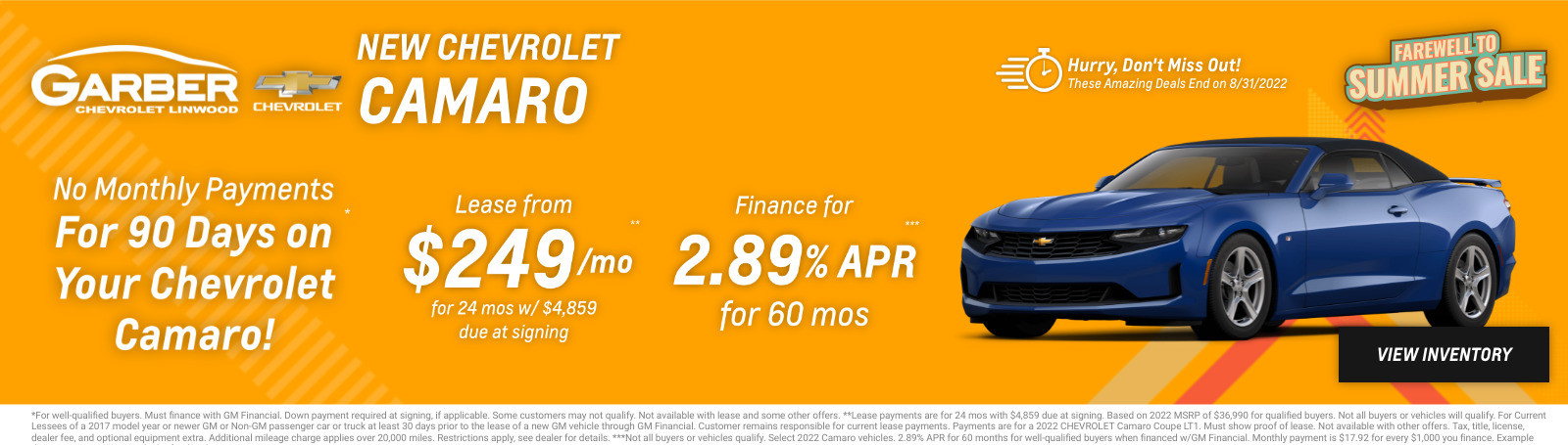 New Chevrolet Camaro Current Deals and Offers in Bay City, MI
