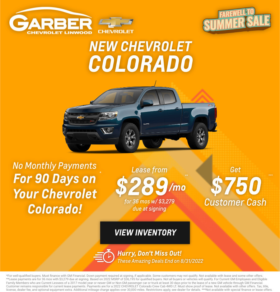 New Chevrolet Colorado Current Deals and Offers in Bay City, MI