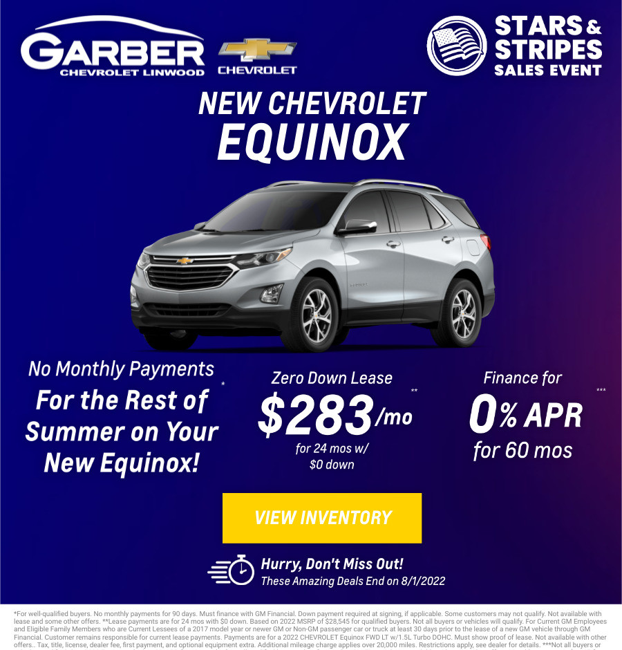 New Chevrolet Equinox Current Deals and Offers in Bay City, MI