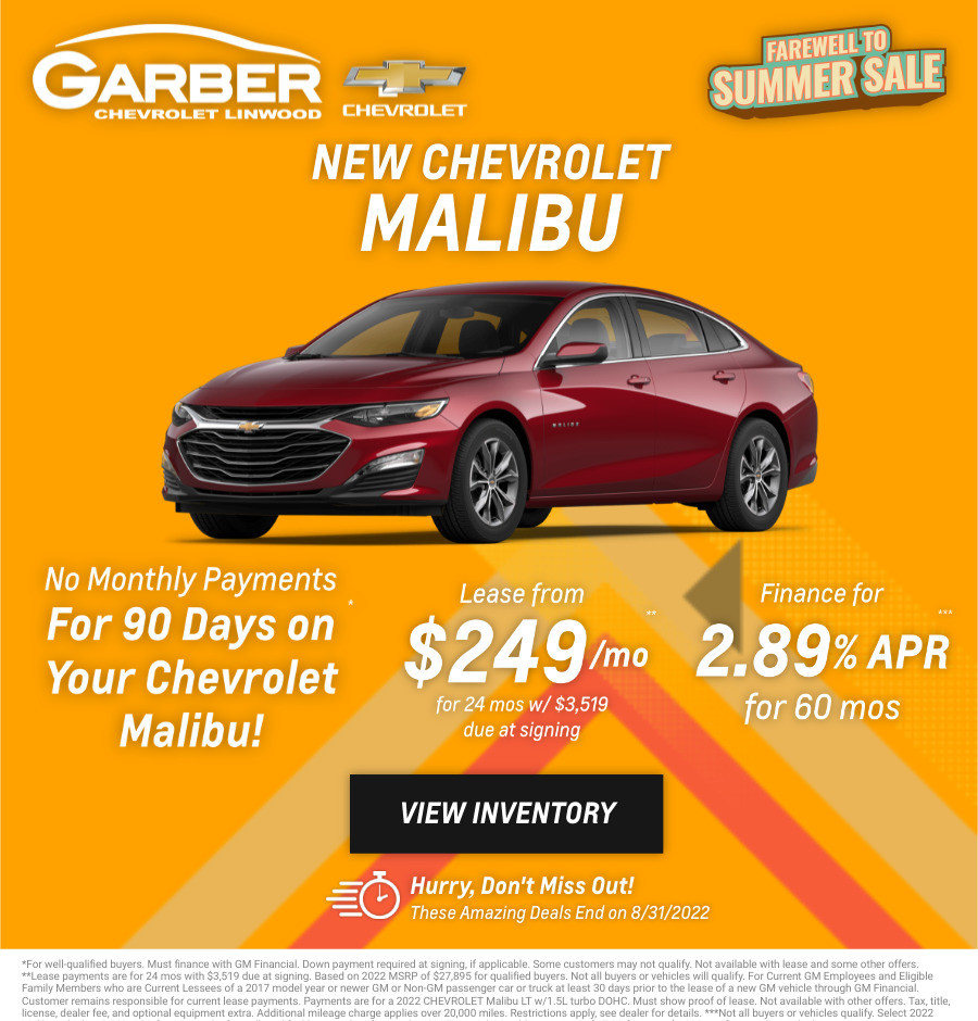 New Chevrolet Malibu Current Deals and Offers in Bay City, MI