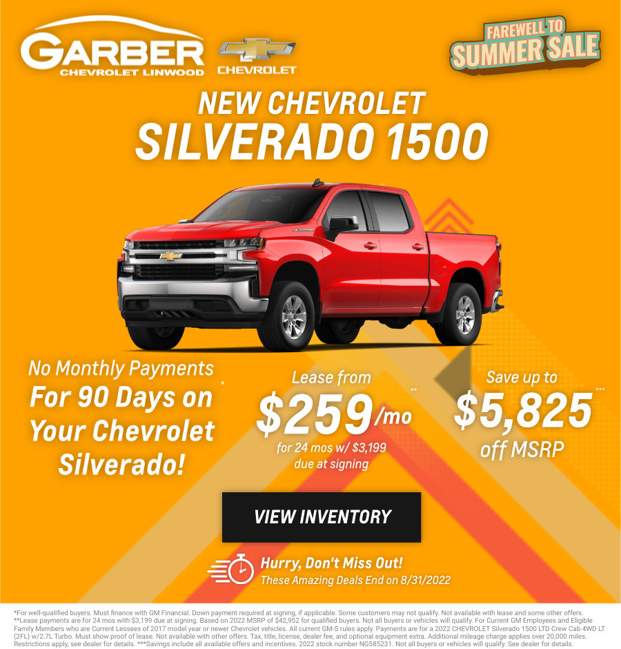 New Chevrolet Silverado Current Deals and Offers in Bay City, MI