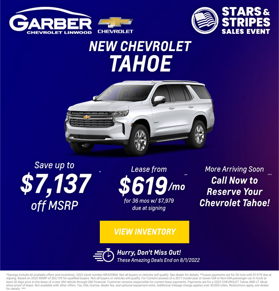New Chevrolet Tahoe Current Deals and Offers in Bay City, MI