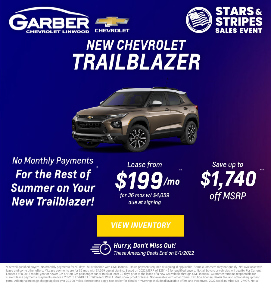 New Chevrolet Trailblazer Current Deals and Offers in Bay City, MI