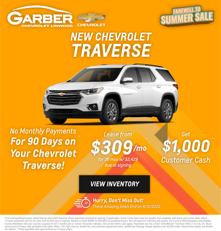 New Chevrolet Traverse Current Deals and Offers in Bay City, MI