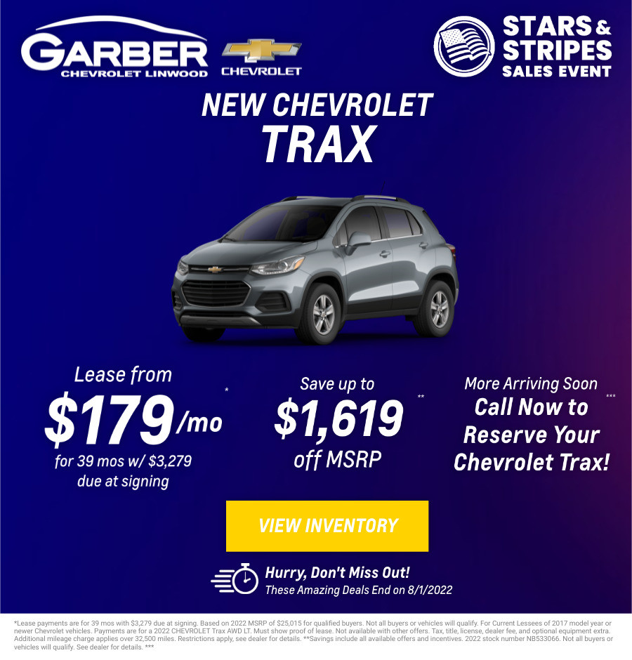 New Chevrolet Trax Current Deals and Offers in Bay City, MI