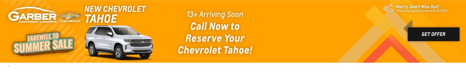 New Chevrolet Tahoe Current Deals and Offers in Linwood, MI