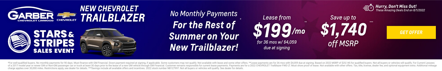 New Chevrolet Trailblazer Current Deals and Offers in Linwood, MI