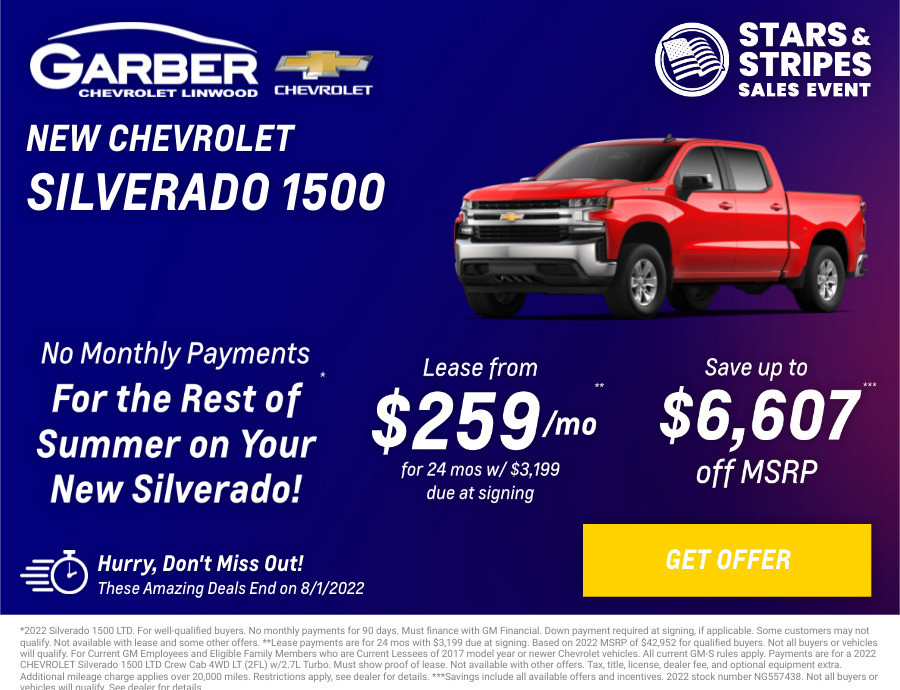 New Chevrolet Silverado-1500 Current Deals and Offers in Linwood, MI