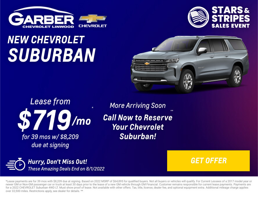 New Chevrolet Suburban Current Deals and Offers in Linwood, MI