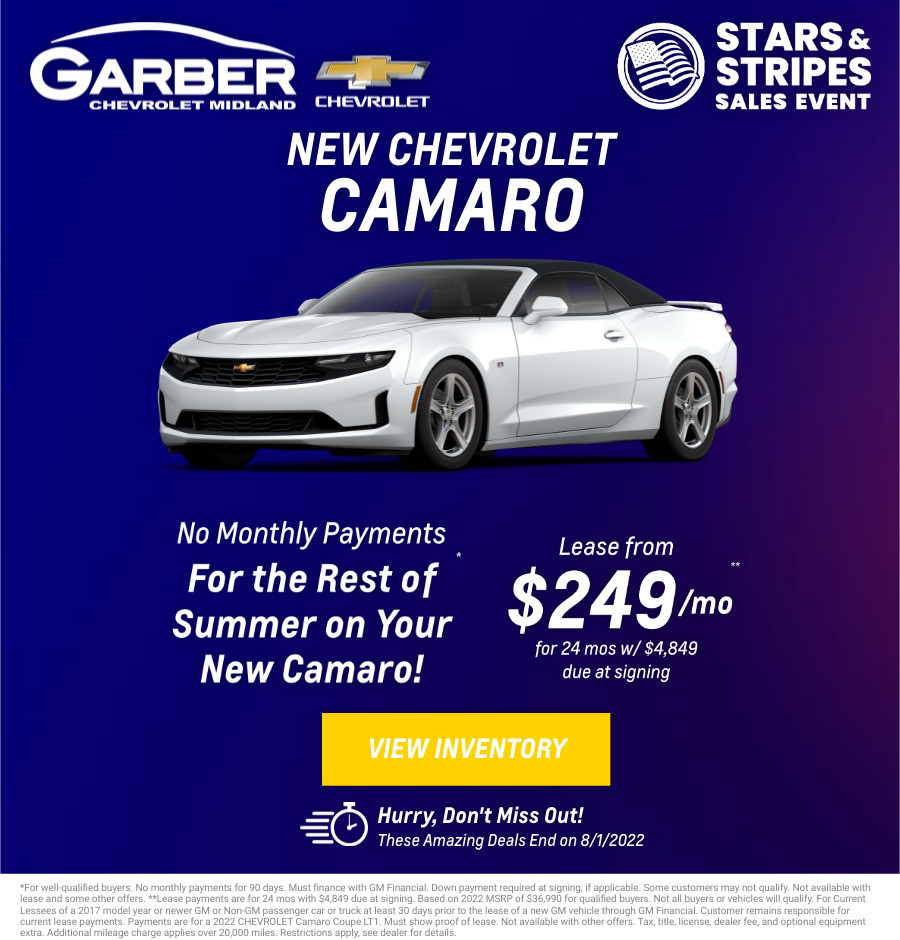 New Chevrolet Camaro Current Deals and Offers in Midland, MI
