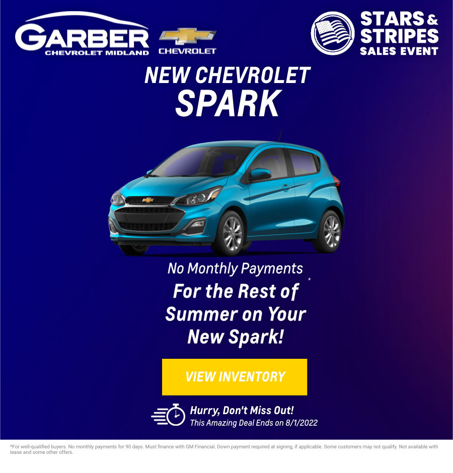 New Chevrolet Spark Current Deals and Offers in Midland, MI