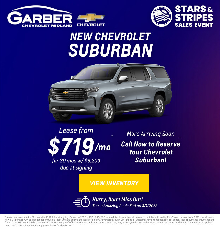 New Chevrolet Suburban Current Deals and Offers in Midland, MI