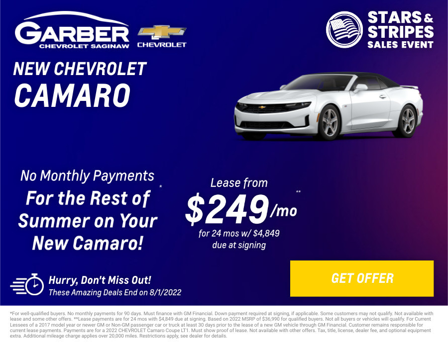 New Chevrolet Camaro Current Deals and Offers in Saginaw, MI