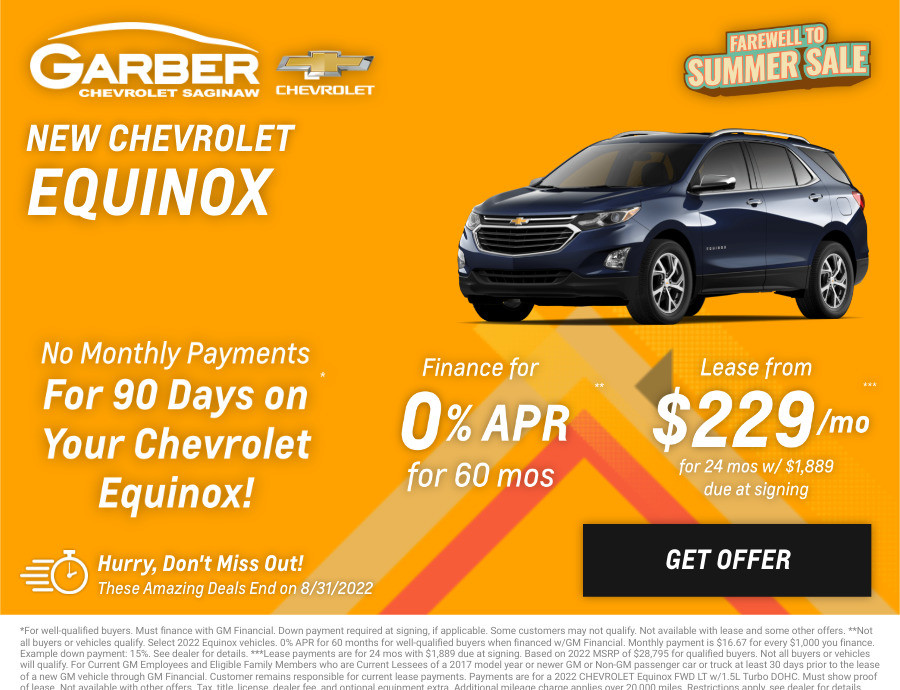 New Chevrolet Equinox Current Deals and Offers in Saginaw, MI