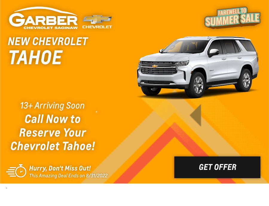 New Chevrolet Tahoe Current Deals and Offers in Saginaw, MI