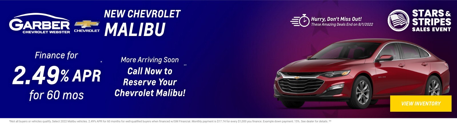 New Chevrolet Malibu Current Deals and Offers in Rochester, NY