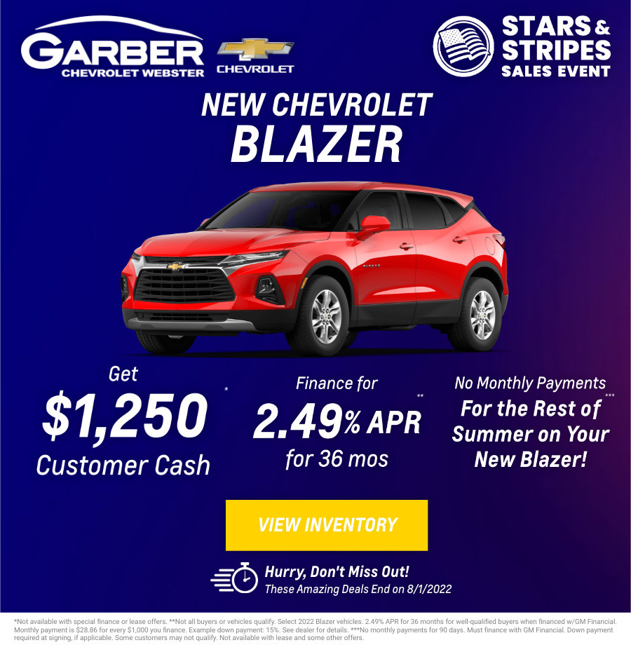 New Chevrolet Blazer Current Deals and Offers in Rochester, NY