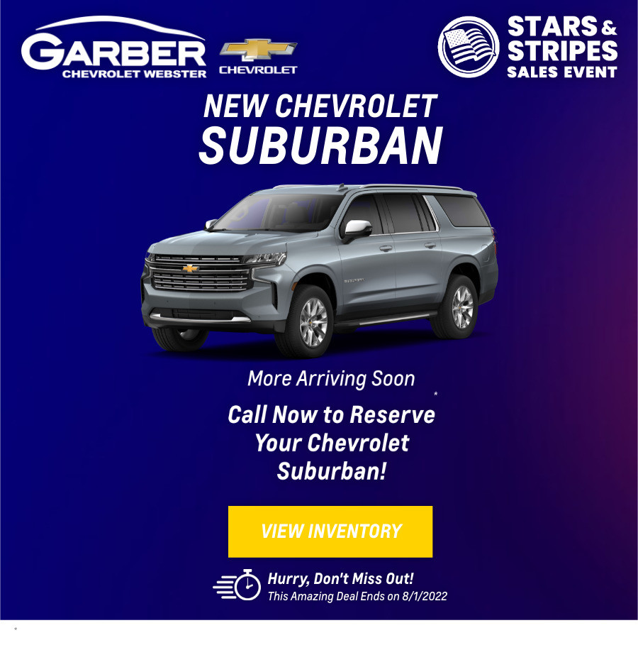 New Chevrolet Suburban Current Deals and Offers in Rochester, NY