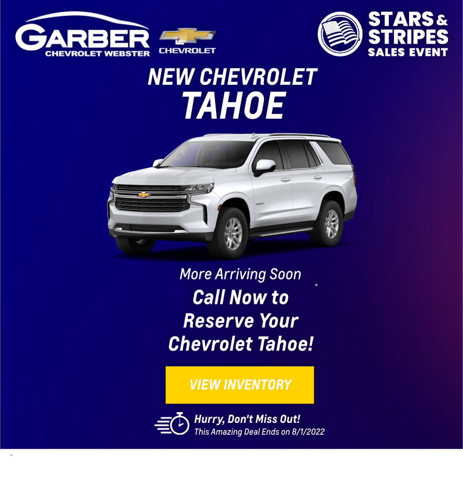 New Chevrolet Tahoe Current Deals and Offers in Rochester, NY