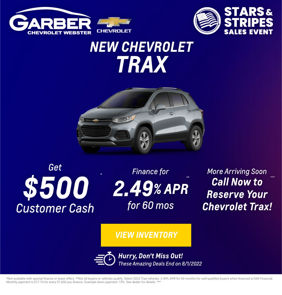 New Chevrolet Trax Current Deals and Offers in Rochester, NY