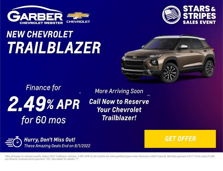 New Chevrolet Trailblazer Current Deals and Offers in Rochester, NY