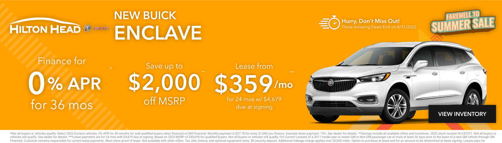 New Buick Enclave Current Deals and Offers in Savannah, GA