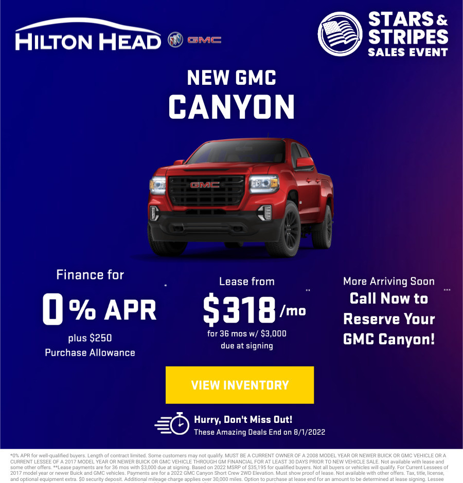New GMC Canyon Current Deals and Offers in Savannah, GA