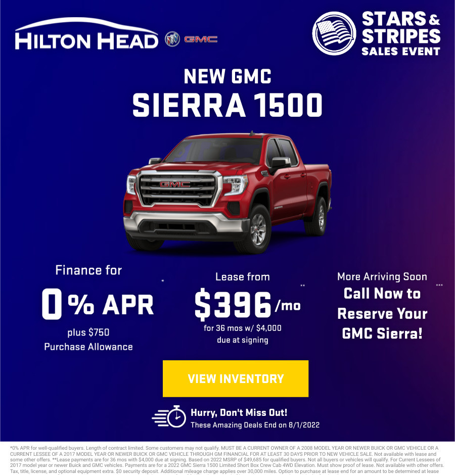 New GMC Sierra 1500 Current Deals and Offers in Savannah, GA