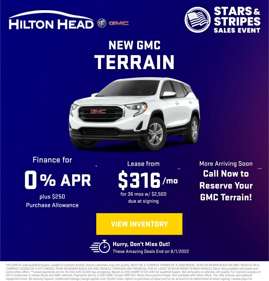 New GMC Terrain Current Deals and Offers in Savannah, GA