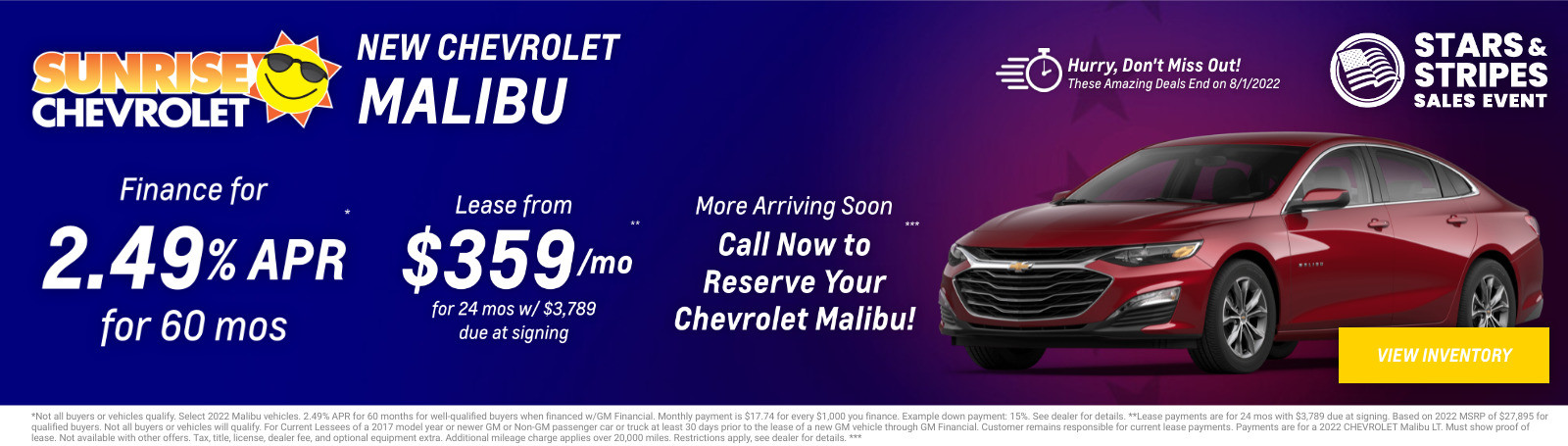 New Chevrolet Malibu Current Deals and Offers in Chicago, IL