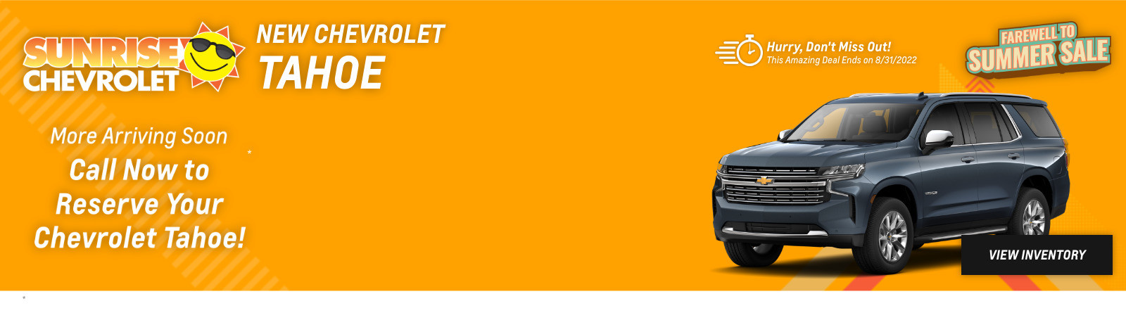 New Chevrolet Tahoe Current Deals and Offers in Chicago, IL