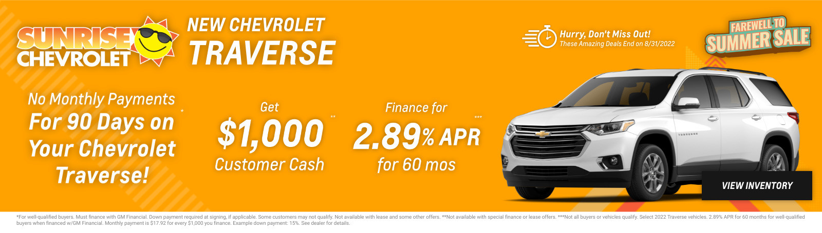 New Chevrolet Traverse Current Deals and Offers in Chicago, IL