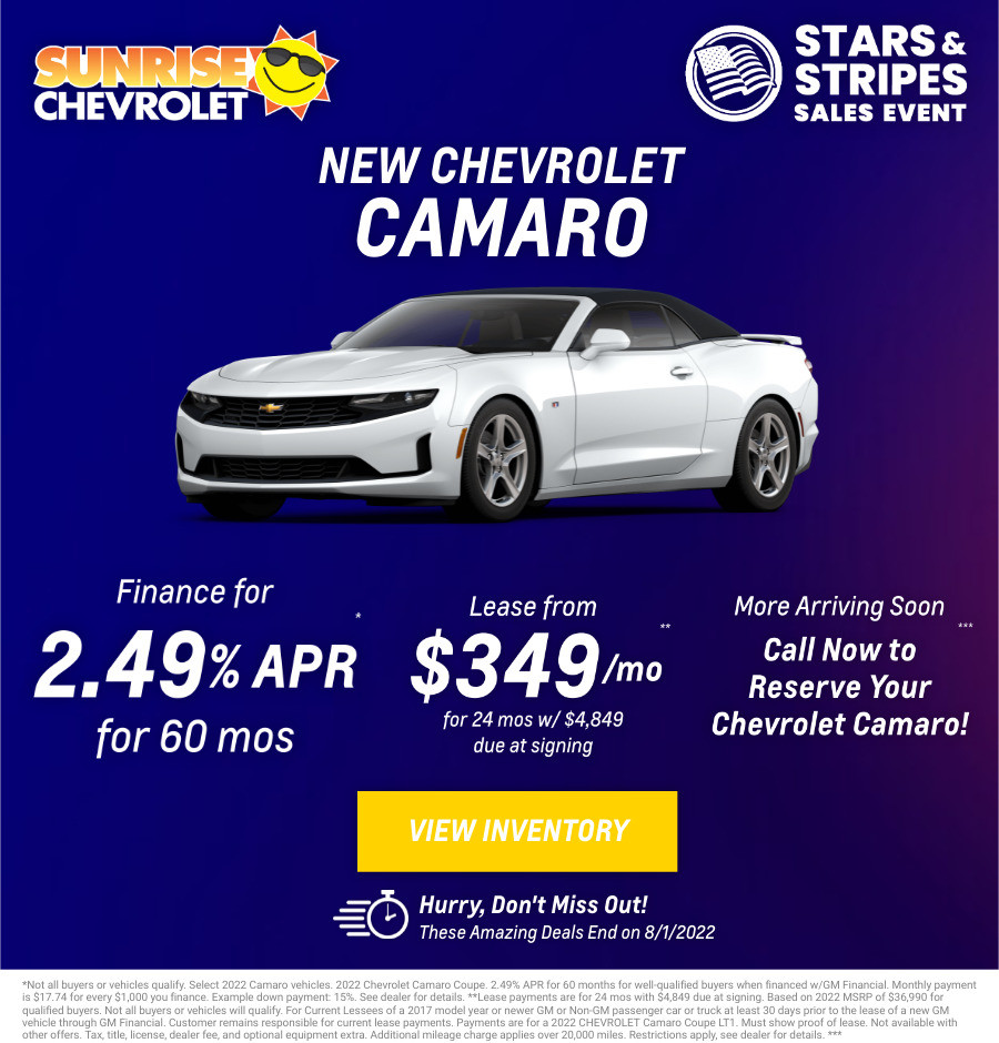 New Chevrolet Camaro Current Deals and Offers in Chicago, IL