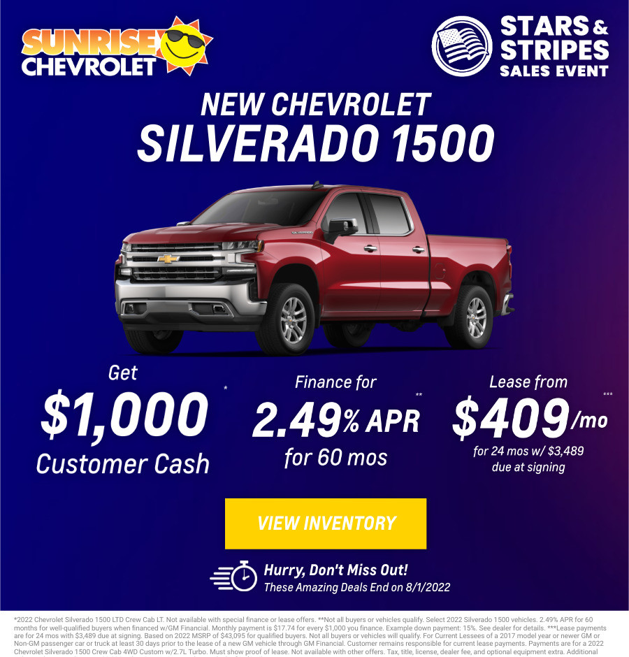New Chevrolet Silverado Current Deals and Offers in Chicago, IL