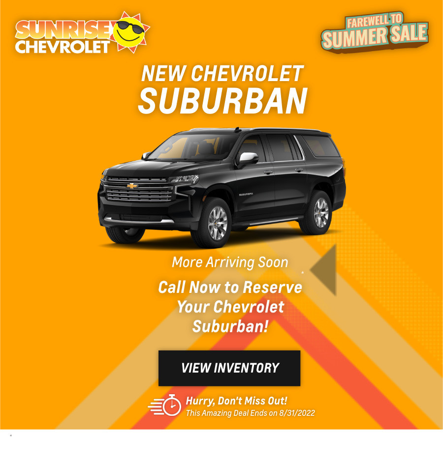 New Chevrolet Suburban Current Deals and Offers in Chicago, IL