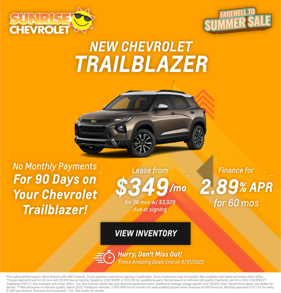 New Chevrolet Trailblazer Current Deals and Offers in Chicago, IL