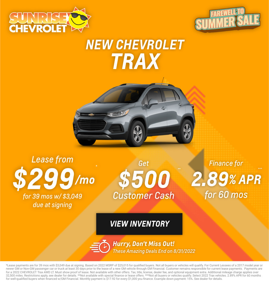 New Chevrolet Trax Current Deals and Offers in Chicago, IL