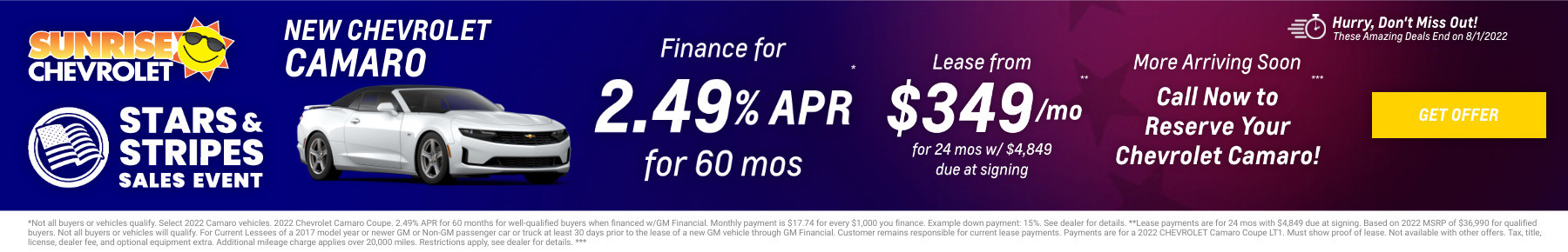 New Chevrolet Camaro Current Deals and Offers in Glendale Heights, IL