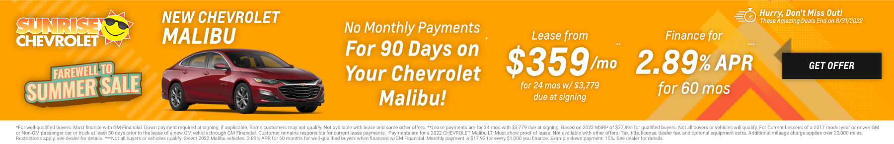 New Chevrolet Malibu Current Deals and Offers in Glendale Heights, IL