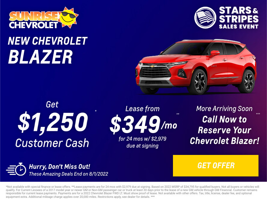 New Chevrolet Blazer Current Deals and Offers in Glendale Heights, IL