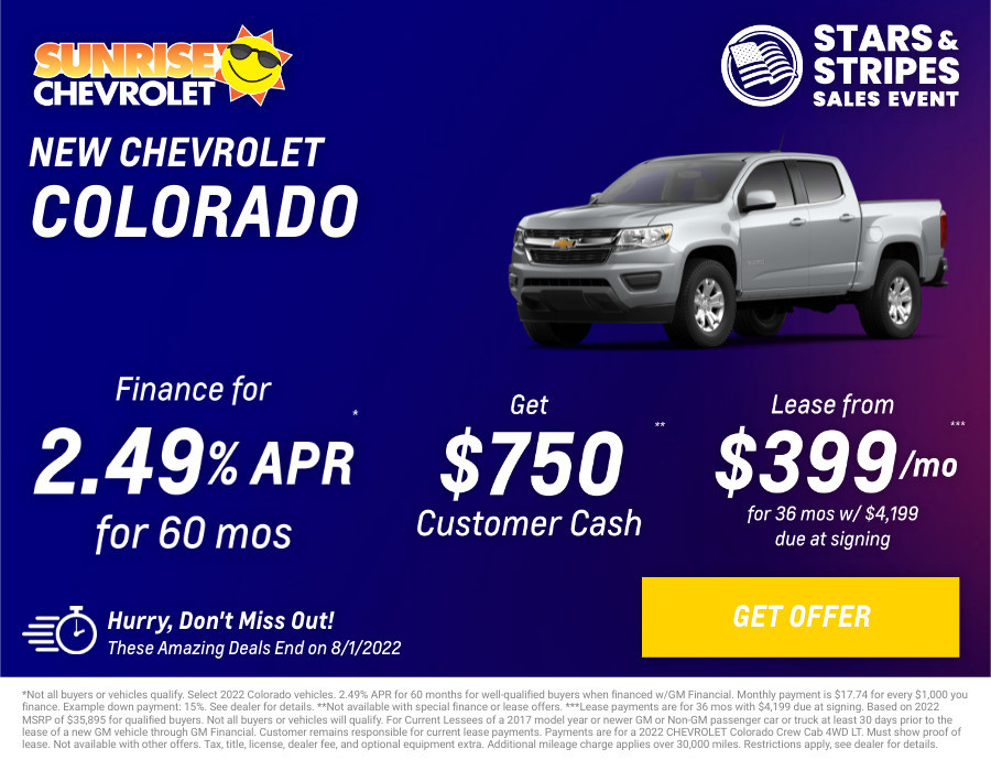 New Chevrolet Colorado Current Deals and Offers in Glendale Heights, IL