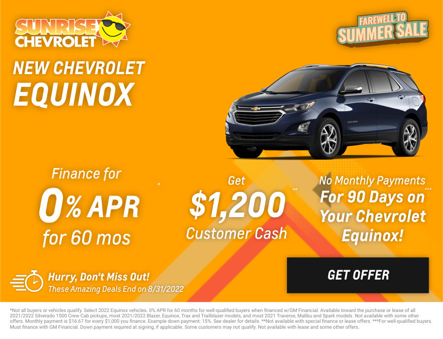 New Chevrolet Equinox Current Deals and Offers in Glendale Heights, IL