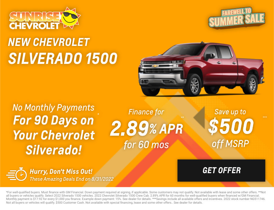 New Chevrolet Silverado-1500 Current Deals and Offers in Glendale Heights, IL