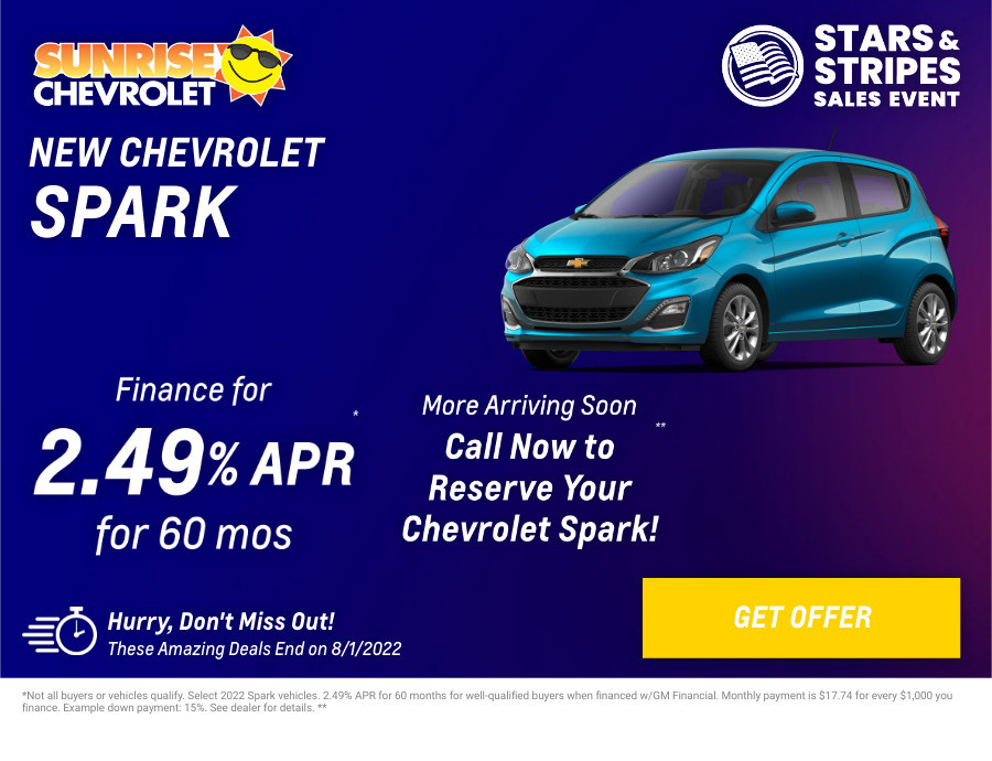 New Chevrolet Spark Current Deals and Offers in Glendale Heights, IL
