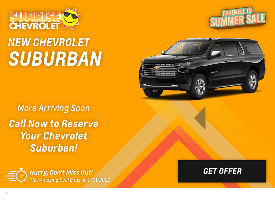 New Chevrolet Suburban Current Deals and Offers in Glendale Heights, IL