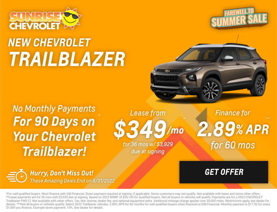 New Chevrolet Trailblazer Current Deals and Offers in Glendale Heights, IL